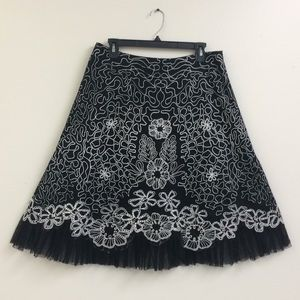 Anthropologie Basil & Maude Black & White Skirt